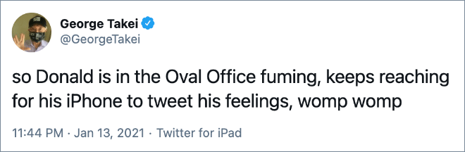 so Donald is in the Oval Office fuming, keeps reaching for his iPhone to tweet his feelings, womp womp
