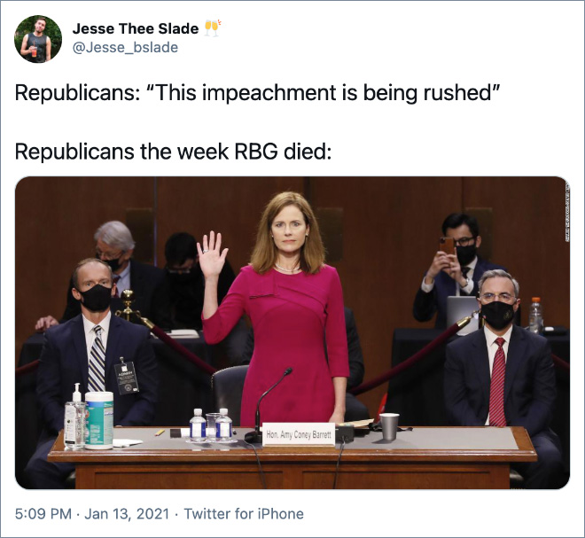 """This impeachment is being rushed!"""