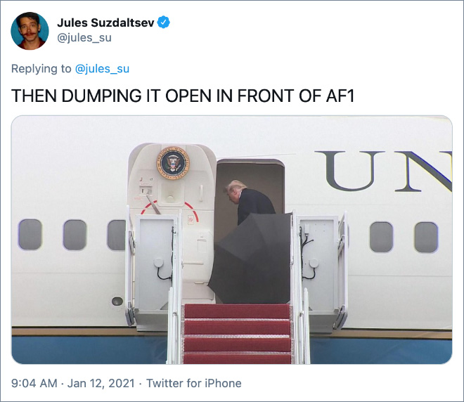 THEN DUMPING IT OPEN IN FRONT OF AF1